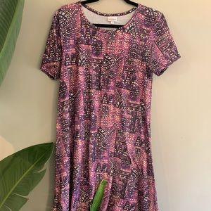 Lularoe Carly Dress Rare Print Size Medium